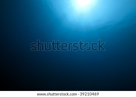 wide ocean and sun - stock photo