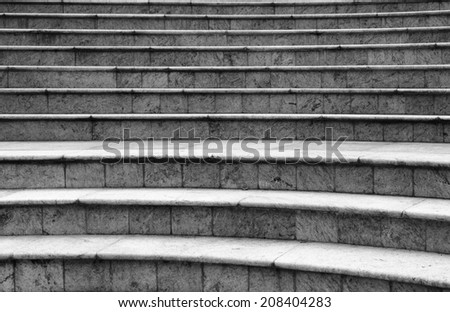 WIde stone stairway often seen on monuments and landmarks - stock photo