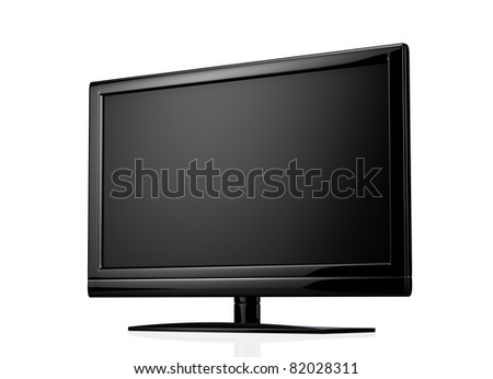 Widescreen lcd display - stock photo