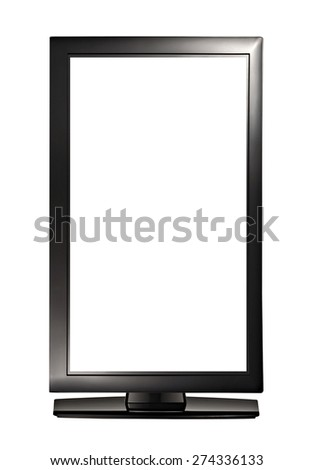 Widescreen monitor on white background - stock photo