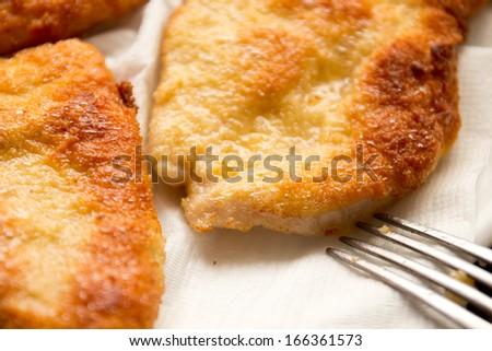 wiener schnitzel - stock photo
