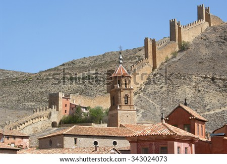 Wiew of Albarracin.Teruel.Spain - stock photo