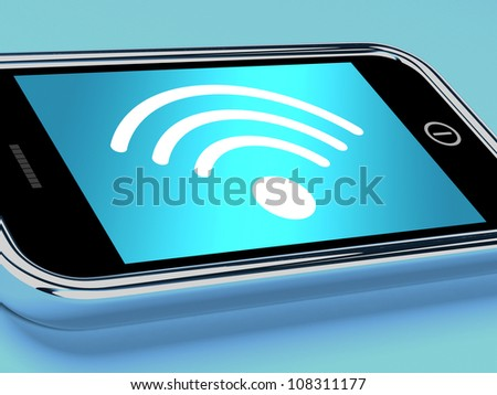 Wifi Internet Connection On A Mobile Smartphone - stock photo