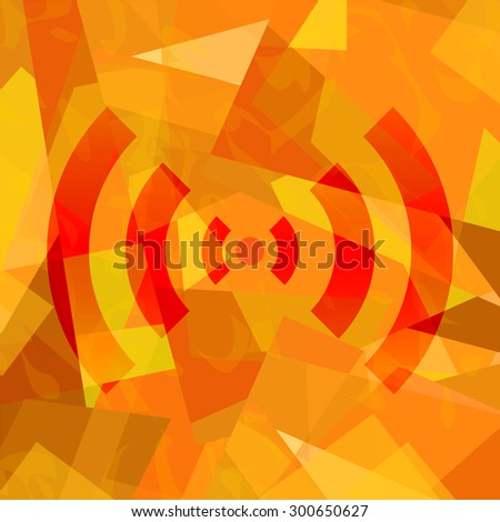 Wifi signal abstract art background - stock photo