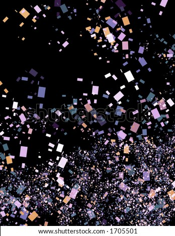 Wild Abstract Confetti Background - stock photo