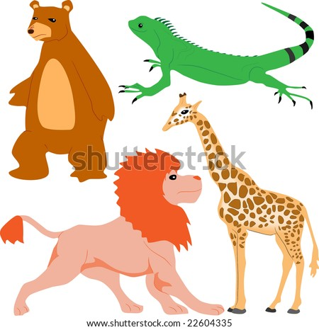 Wild animal set. Photo format. For vector version please see my portfolio - stock photo