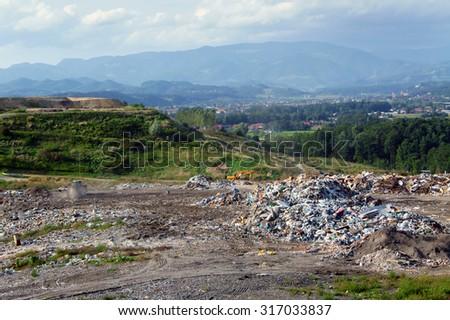 Wild dump               - stock photo