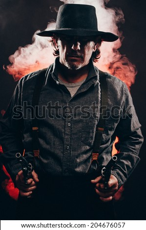 Wildwest Gunslinger  - stock photo
