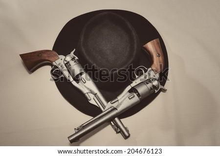 Wildwest Gunslinger  - stock photo