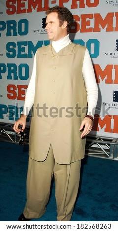 Will Ferrell at SEMI-PRO Premiere, Grauman's Chinese Theatre, Los Angeles, CA, February 19, 2008 - stock photo