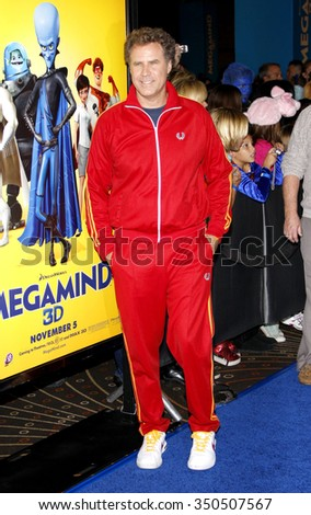 """Will Ferrell at the Los Angeles Premiere of """"Megamind"""" held at the Hollywood and Highland in Hollywood, California, United States on October 30, 2010.  - stock photo"""