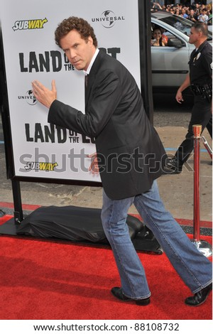"Will Ferrell at the premiere of his new movie ""Land of the Lost"" at Grauman's Chinese Theatre, Hollywood. May 30, 2009  Los Angeles, CA Picture: Paul Smith / Featureflash - stock photo"