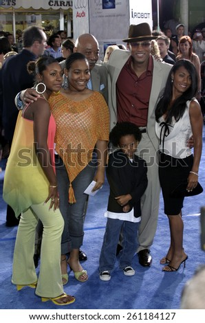 """Will Smith and Jada Pinkett Smith at the Los Angeles premiere of """"I, Robot"""" held at the Mann Villa Theater in Westwood, USA on July 7, 2004. - stock photo"""
