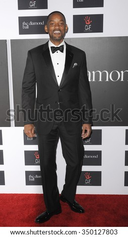 Will Smith at the 2nd Annual Diamond Ball held at the Barker Hanger in Santa Monica, USA on December 10, 2015. - stock photo