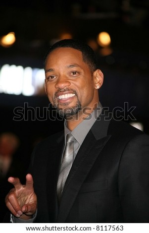 Will Smith attends the UK premiere of I Am Legand Odeon Leicester Square, London 19/12/07. Credit: Entertainment Press - stock photo