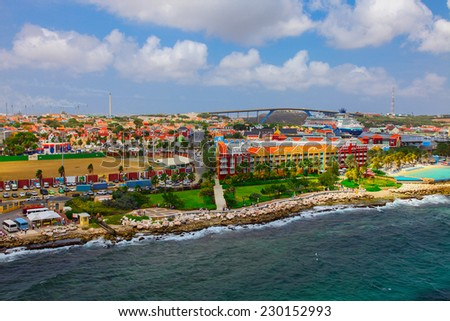 Willemstad/Curacao - stock photo
