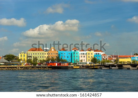 Willemstad harbor - stock photo