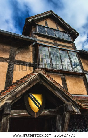 William Shakespeare's Birthplace, Stratford upon Avon - stock photo