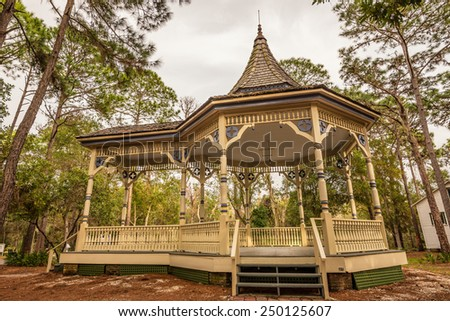 Williams Park Bandstand in the Pinellas County Heritage Village. The original Bandstand in St. Petersburg was built about 1894 and was later demolished. - stock photo