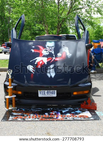 WILLIAMSBURG, VA - May 9, 2015: A Neighborhood DreamZ at the 6th Annual Project Lifesaver Car Show in Williamsburg Virginia on a summer day. - stock photo