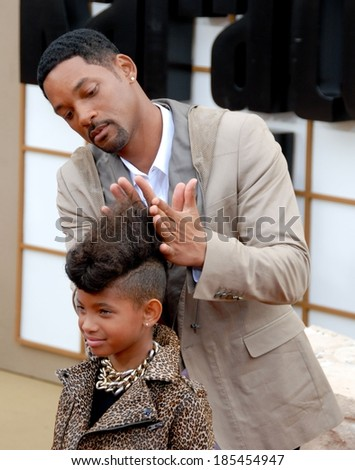 Willow Smith, Will Smith at THE KARATE KID Premiere, Mann Village Theatre, Los Angeles, CA June 7, 2010 - stock photo