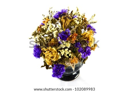 wilted flowers - stock photo