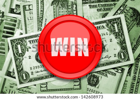 Win money - stock photo