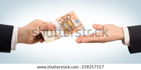 Win or loan of money - stock photo