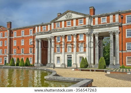 Winchester, Hampshire, England - August 02: historic building Gurkha Museum at Peninsula Barracks, commemorates the service of Gurkha soldiers to British Crown on August 02, 2015 in Winchester England - stock photo