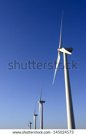 Wind farm in Palm Desert, California. - stock photo