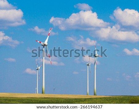 wind generator in Palanga - stock photo