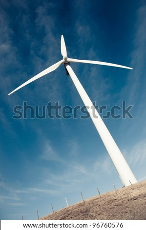 Wind mill, renewable energy. - stock photo