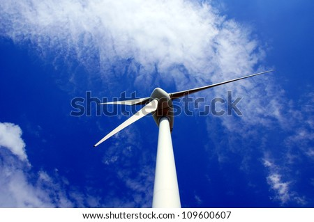 wind mill / wind energy - stock photo