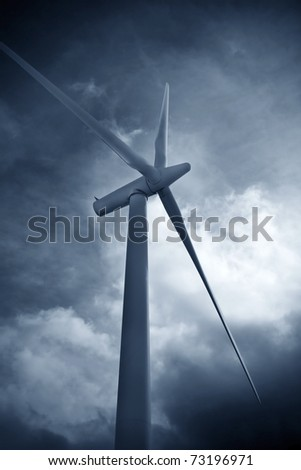 wind mills, renewable energy - stock photo