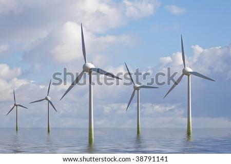 Wind Park - stock photo