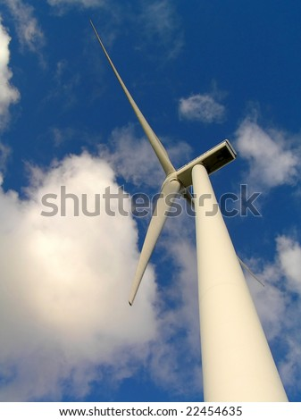 Wind power installation. - stock photo