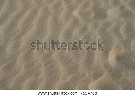 Wind Swept Sand - stock photo