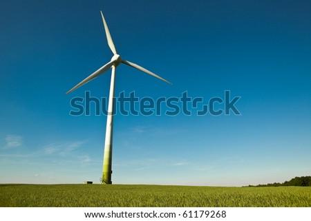 Wind Turbine - alternative and green energy source - stock photo