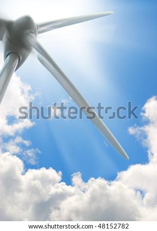 wind turbine background, environment energy - image - stock photo