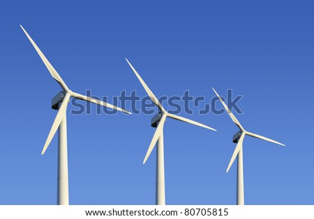 Wind turbine farm - stock photo
