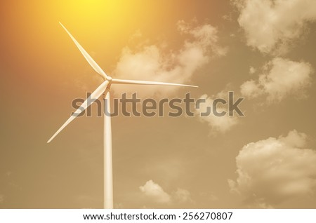 wind turbine field - stock photo