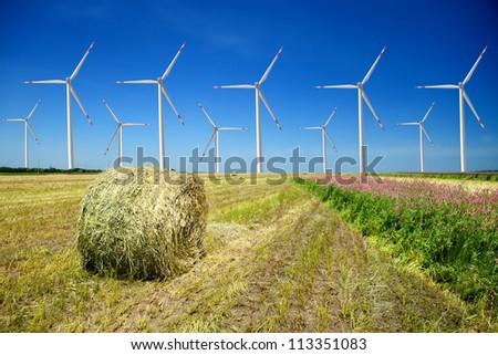 Wind Turbine Generators - stock photo