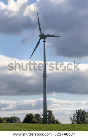 wind turbine in the countryside - stock photo