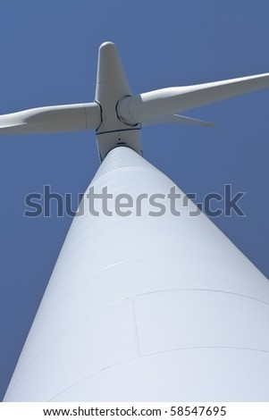wind turbine to generate electric energy close - stock photo