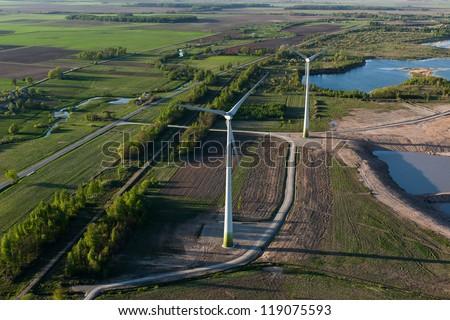 Wind turbines, Lithuania - stock photo