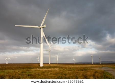 wind turbines, Scotland - stock photo