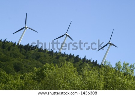 Wind Turbines Searsburg Vermont - stock photo