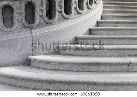 Winding staircase - stock photo