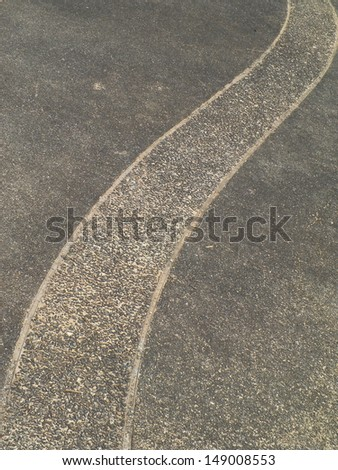 Winding stone pathway - stock photo