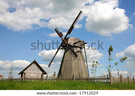 windmill - stock photo